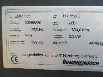 jungheinrich emc 110 swift used pallet stacker electric. Black Bedroom Furniture Sets. Home Design Ideas